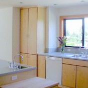 Maple Cabinets & Corian tops